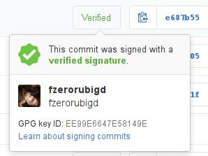 git commit verify- github